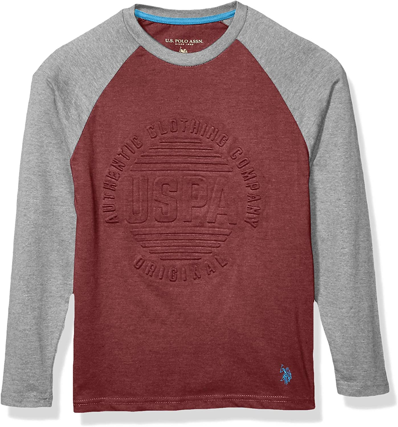 U.S. Polo Assn. Boys' Long Sleeve Embossed Graphic T-Shirt