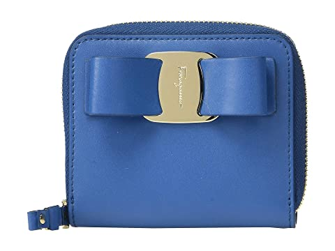 Salvatore Ferragamo Vara Compant Bow Zip Around Wallet