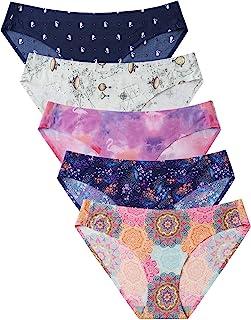 VOENXE Womens Seamless Underwear Breathable Stretch Bikini Panties