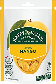 Happy Valley Farms Dried Mango, 30 ounce