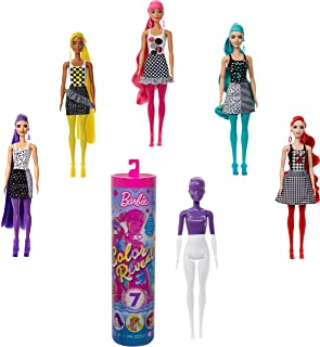 Barbie Color Reveal Doll with 7 Surprises: 4 Mystery Bags...