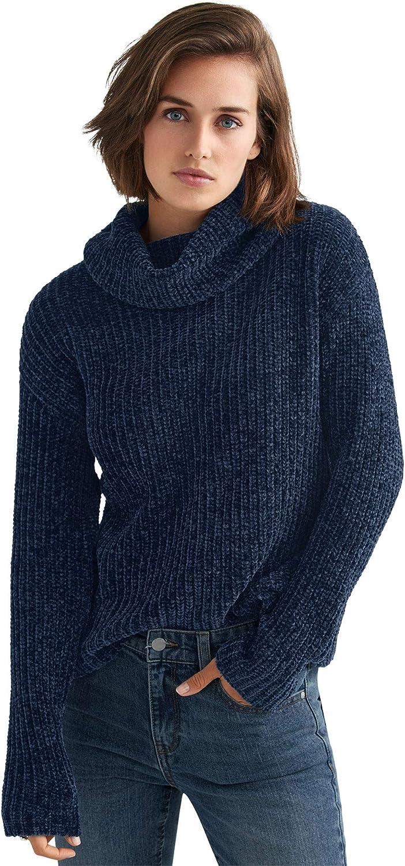 ellos Women's Plus Size Chenille Turtleneck Sweater Pullover