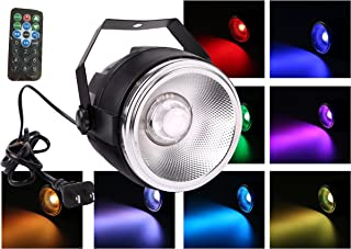 Par LED stage light, TOM 30W RGB COB par can wash lights with polished aluminum reflector plus small dome len and 7 DMX512 channel stage light for wedding/party/theater