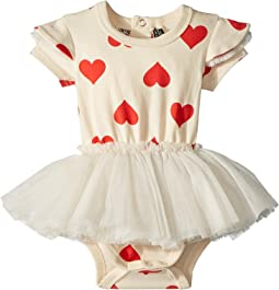 Rock Your Baby Sweetheart Short Sleeve Circus Dress (Infant)