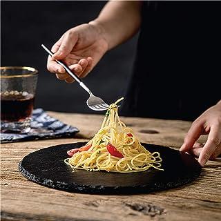 Kitchen master SL0010 Round Slate Plate 20 CM, black