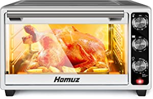 Air Fryer, Homuz 7 In 1 Toaster Oven Oilless Cooker Air Fryer Oven with 7 Cooking Functions, 1500W 22L/23QT Family Size Air Fryer Toaster Oven with Roast, Bake, Broil, Pizza Function, ETL Certified