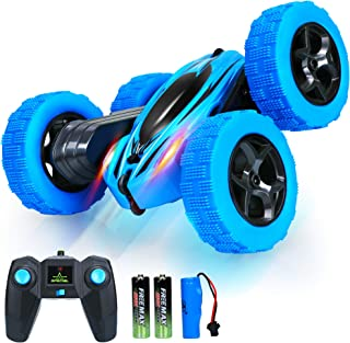 Remote Control Car RC Cars - Drift High Speed Off Road Stunt Truck, 4WD Race Toy with Two Rechargeable Batteries, Cool Bir...