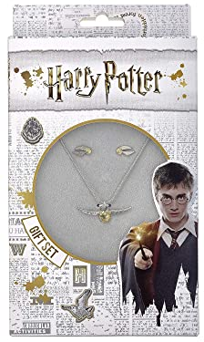 HARRY POTTER Gift Set - Golden Snitch Necklace & Earrings