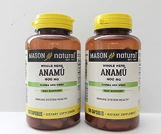 2 Pack Special of MASON NATURAL ANAMU CAPSULES 100 per bottle