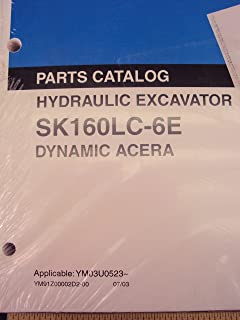 Kobelco Hydraulic Excavator SK160LC-6E Dynamic Acera Parts Catalog