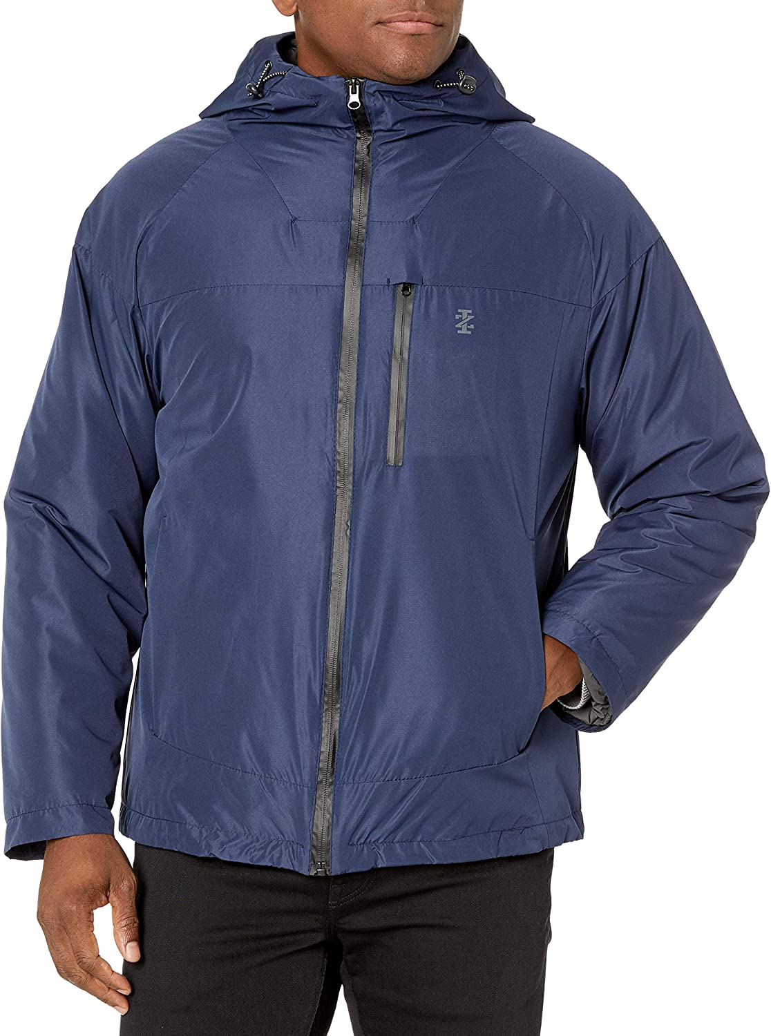 IZOD Men's Rip Stop Hooded 3-1 Systems Jacket at  Men's Clothing store