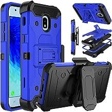 Venoro Galaxy J3 2018 Case, Galaxy J3 Orbit, Galaxy J3 Emerge Case, Shockproof Protection Case Cover with Belt Swivel Clip and Kickstand for Samsung Galaxy J3 Achieve/Galaxy J3 Star (Blue)