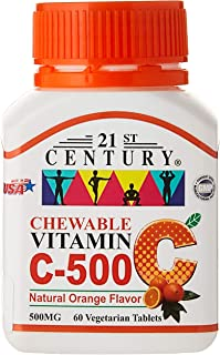 21ST Century Vitamin C 500mg, Orange Chewable, 60ct
