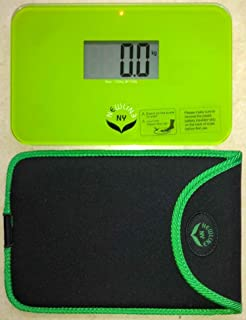 NewlineNY Step On Super Mini Smallest Travel Bathroom Scale with Trip Protection Sleeve: SBB0638SM-GN (Green) + NY-SMS-S001-BG