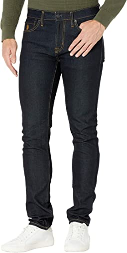 Stretch Skinny Five-Pocket Denim Jeans in Blue Rinse