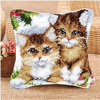 Kits De Crochet De Loquet Bricolage, Jetez La Couverture De Coussin De Coussin Mignon Motif De Lapin Imprimé, Crochet D'ai...