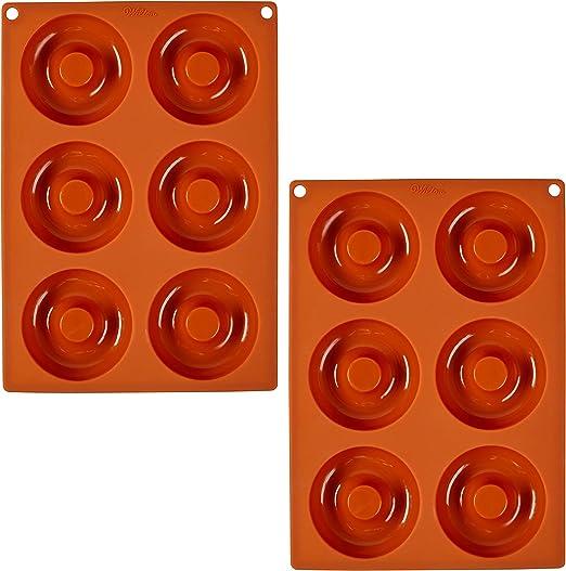 مجموعة أوعية خبز ويلتون، 6 تجاويف مصنوعة من السيليكون، عدد 2
