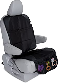 Car Seat Protector for Under Car Seat - Covers Entire Seat - Premium Durable Construction - Seat Cover for Leather and Upholstery Car Seats - Works for All Kid Seats and Baby Seats
