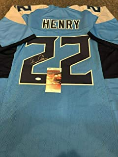 TENNESSEE TITANS DERRICK HENRY AUTOGRAPHED SIGNED JERSEY JSA COA