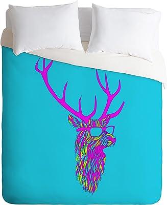 Deny Designs Robert Farkas Party Deer Duvet Cover, Queen