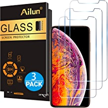 Ailun Compatible with Apple iPhone Xs Max Screen Protector 3 Pack 6.5 Inch 2018 Release Tempered Glass 0.33mm Anti Scratch Advanced HD Clarity Work with Most Case