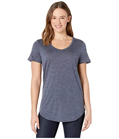 Icebreaker Solace Merino Short Sleeve Scoop (Midnight Navy Heather) Women