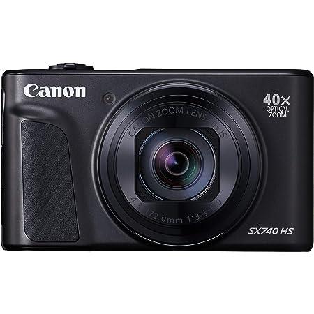 Canon コンパクトデジタルカメラ PowerShot SX740 HS ブラック 光学40倍ズーム/4K動画/Wi-Fi対応 PSSX740HSBK