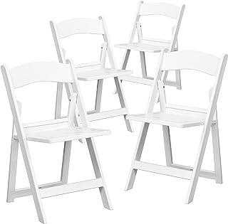 Awe Inspiring Amazon Com Folding White Chairs Ibusinesslaw Wood Chair Design Ideas Ibusinesslaworg