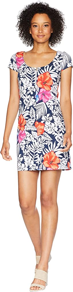 Fuego Floral Scoop Neck Dress