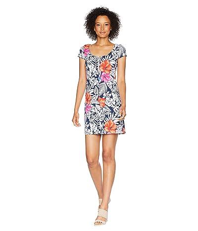 Tommy Bahama Fuego Floral Scoop Neck Dress (Ocean Deep) Women