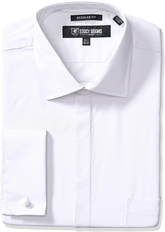 STACY ADAMS Men's Big-Tall 39000 Solid Dress Shirt