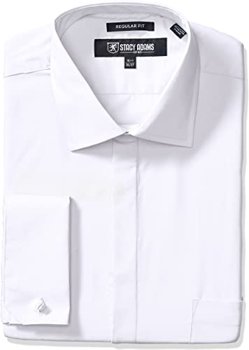 STACY ADAMS Hommes's Big-Tall 39000 Solid Robe Shirt, blanc, 20  Neck 36-37  Sleeve