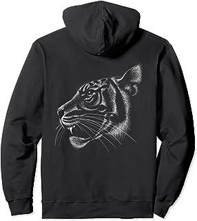 Dessin de conservation de la faune d'un tigre Sweat à Capuche