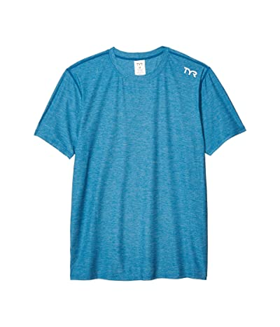 TYR Vista Short Sleeve Rashguard (Ocean Blue) Men