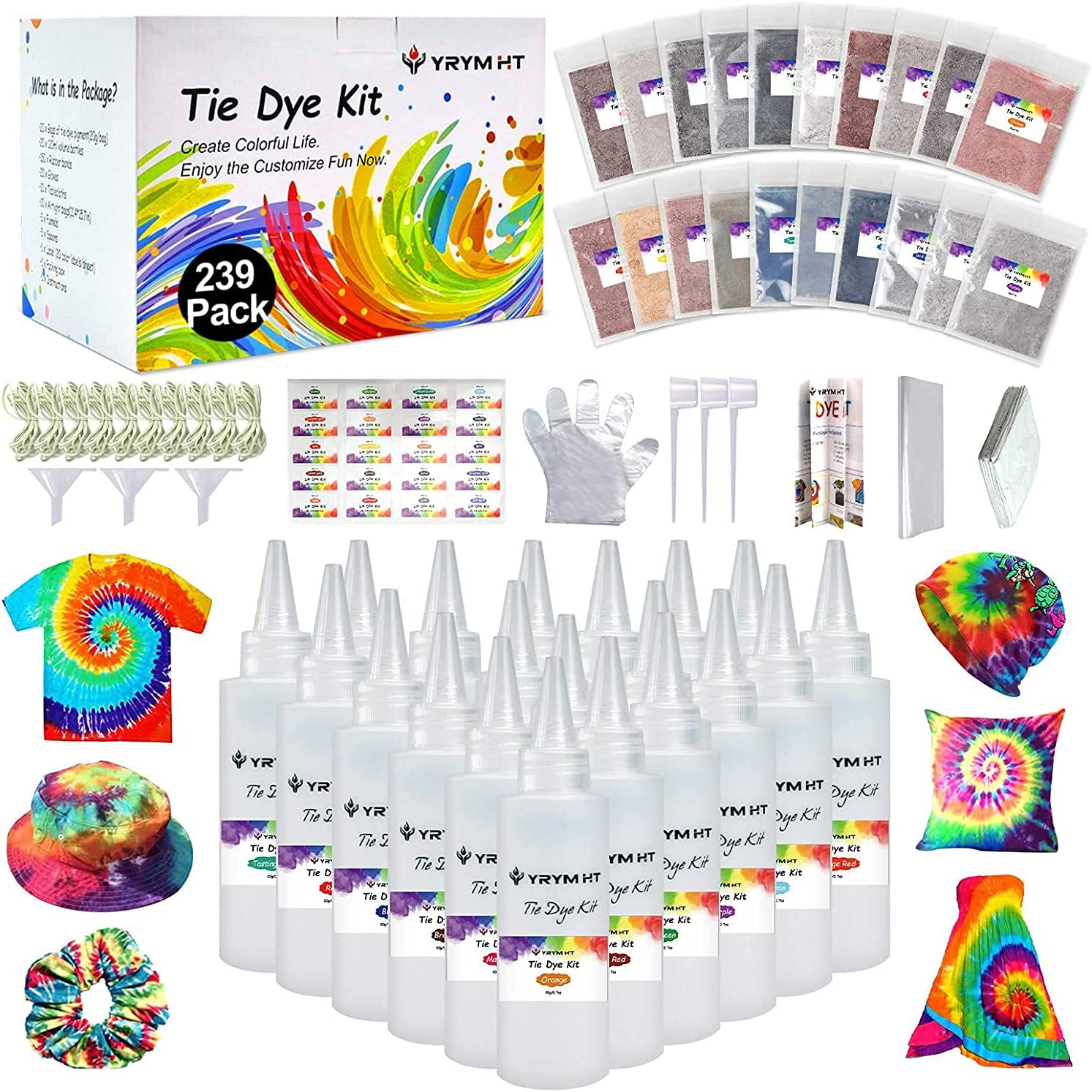 Large Tie Dye Kit OFFicial shop for Kids and 239 - Kansas City Mall Permanent Pack Adults D