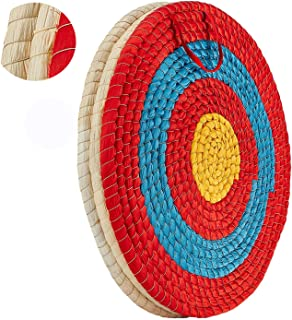 DOSTYLE Traditional Solid Straw Round Archery Target Shooting Bow Coloured Rope Target Face Three Layer for Shooting Practice