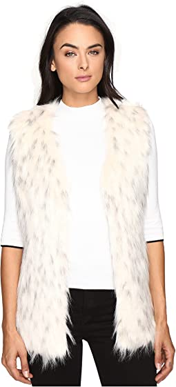 Faux Fur Tripped Vest