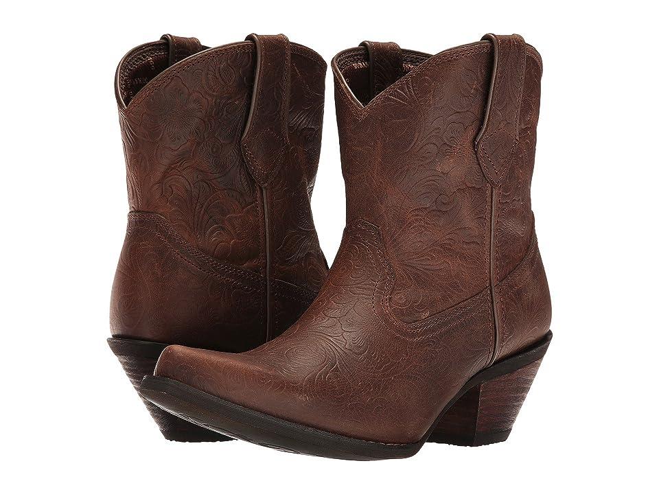 Durango Crush Embossed Bootie (Vintage Brown) Cowboy Boots