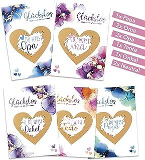 10 Rubbellose zur Verk/ündung deiner Schwangerschaft Wir bekommen ein Baby Rubbelkarten von Davom