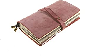 UNIQUE HM&LN Leather Journal Budget Planner Organizer Academic Notebook Refillable Monthly Calendar & Daily & Bill Organizer Achieve Goals & Improve Productivity Graduation Gifts Pink