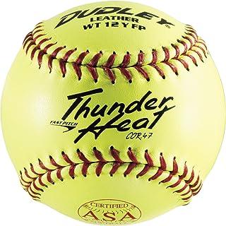 Dudley ASA Thunder Heat Fastpitch Softball – 12 Pack, Yellow (4A147YA)