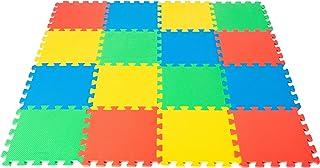 WITTA Tapis de jeu en mousse EVA pour bébés et enfants 16 pièces 31 x 31 cm Multicolore Tapis Puzzle avec zone de couvertu...