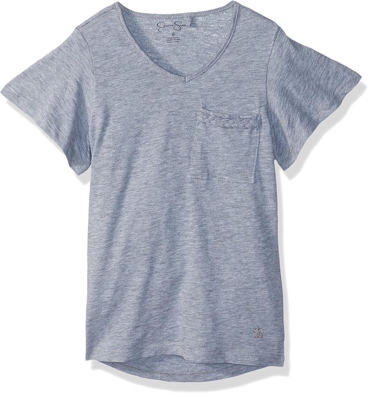 Jessica Simpson Girls Basic V Neck T-Shirt