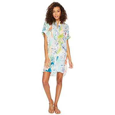 Echo Design Seaside Floral Shirtdress Cover-Up (Multi) Women