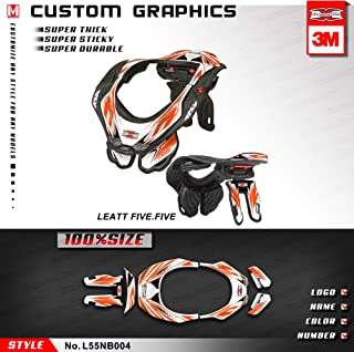 Kungfu Graphics Neck Brace Stickers Decals for 2012 2013 2014 2015 2016 Leatt GPX 5.5 FIVE.FIVE