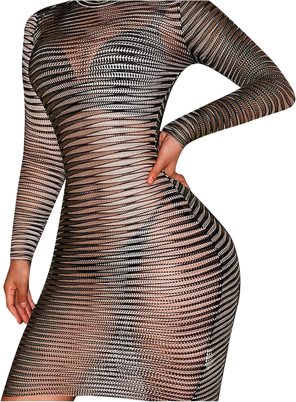 LOSTOX Party Club Short Mini Dress Women Off Shoulder Slim Midi Dress Womens Night Club Fashion Dress Transparent Dress