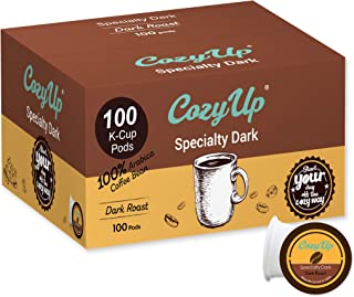 CozyUp 100-Count Specialty Dark Roast Blend Coffee Pods for Keurig K-Cup Brewers, Dark Roast
