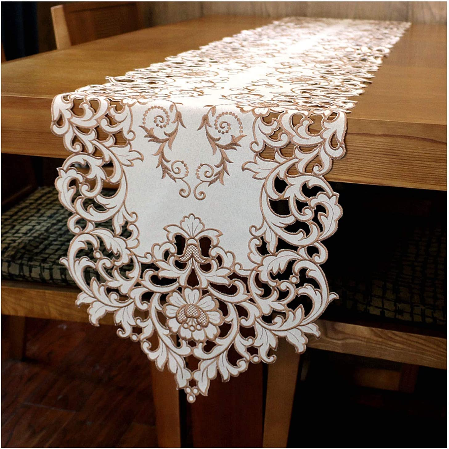 Electric oven Daily bargain sale Embroidered Hollow Max 50% OFF Decoration Table Runner Ideal