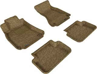 3D MAXpider Complete Set Custom Fit All-Weather Floor Mat for Select Audi A4/S4/RS4 Models - Classic Carpet (Tan)