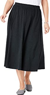 Women's Plus Size Petite 7-Day Knit A-Line Skirt